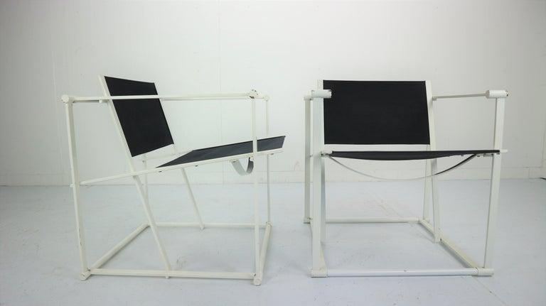 Metal Set of 2 Radboud Van Beekum Fm62 Cube Chairs for Pastoe, 1980s Dutch Design For Sale