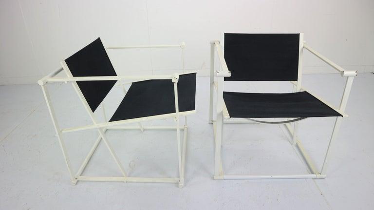 Set of 2 Radboud Van Beekum Fm62 Cube Chairs for Pastoe, 1980s Dutch Design For Sale 1