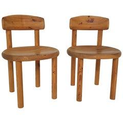 Set of 2 Rainer Daumiller for Hirtshals Savvaerk Pinewood Dining Chairs, Denmark