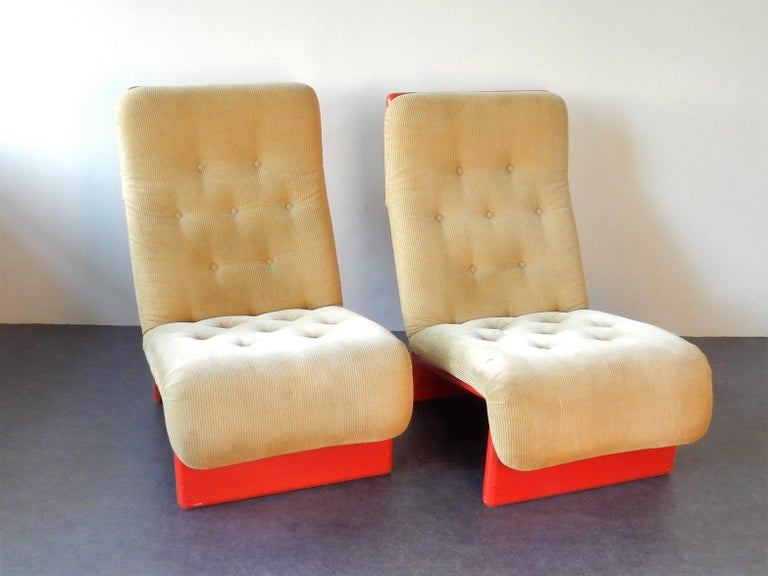 Set of 2 Rare Lounge Chairs for Cado, Denmark, 1960s For Sale 1