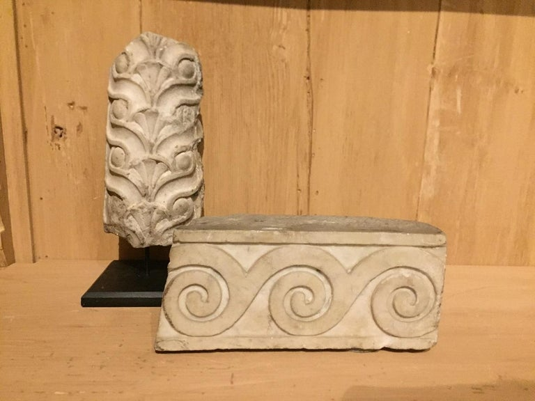 Set of 2 Roman Architectural Fragments For Sale 3