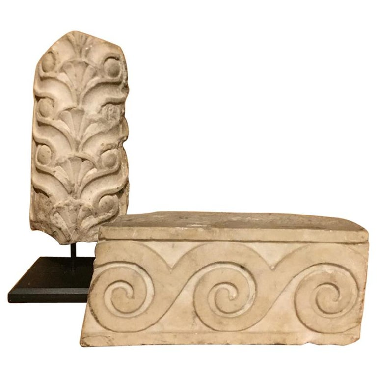 Set of 2 Roman Architectural Fragments For Sale