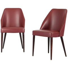 Set of 2 Side Chairs Designed and Manufactured by Ufficio Tecnico Cassina, 1950s