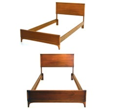 Set of 2 Single Sized Beds by Warren Church for Lane