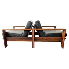 Set of 2 Solid and Comfortable Lounge Chairs, Netherlands, 1970s