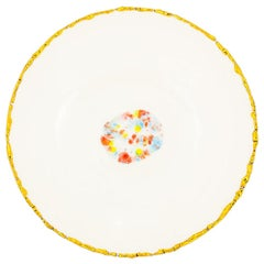 Set of 2 Soup Plates Gold Hand Painted Coralla Maiuri Modern New Tableware
