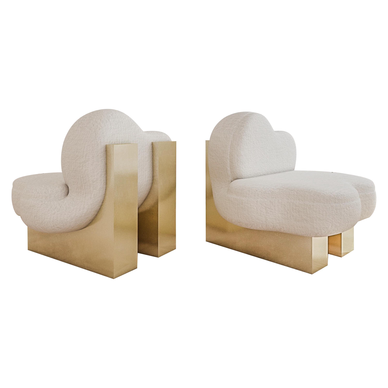 Set of 2 Splash Lounge Chair by Melis Tatlicibasi