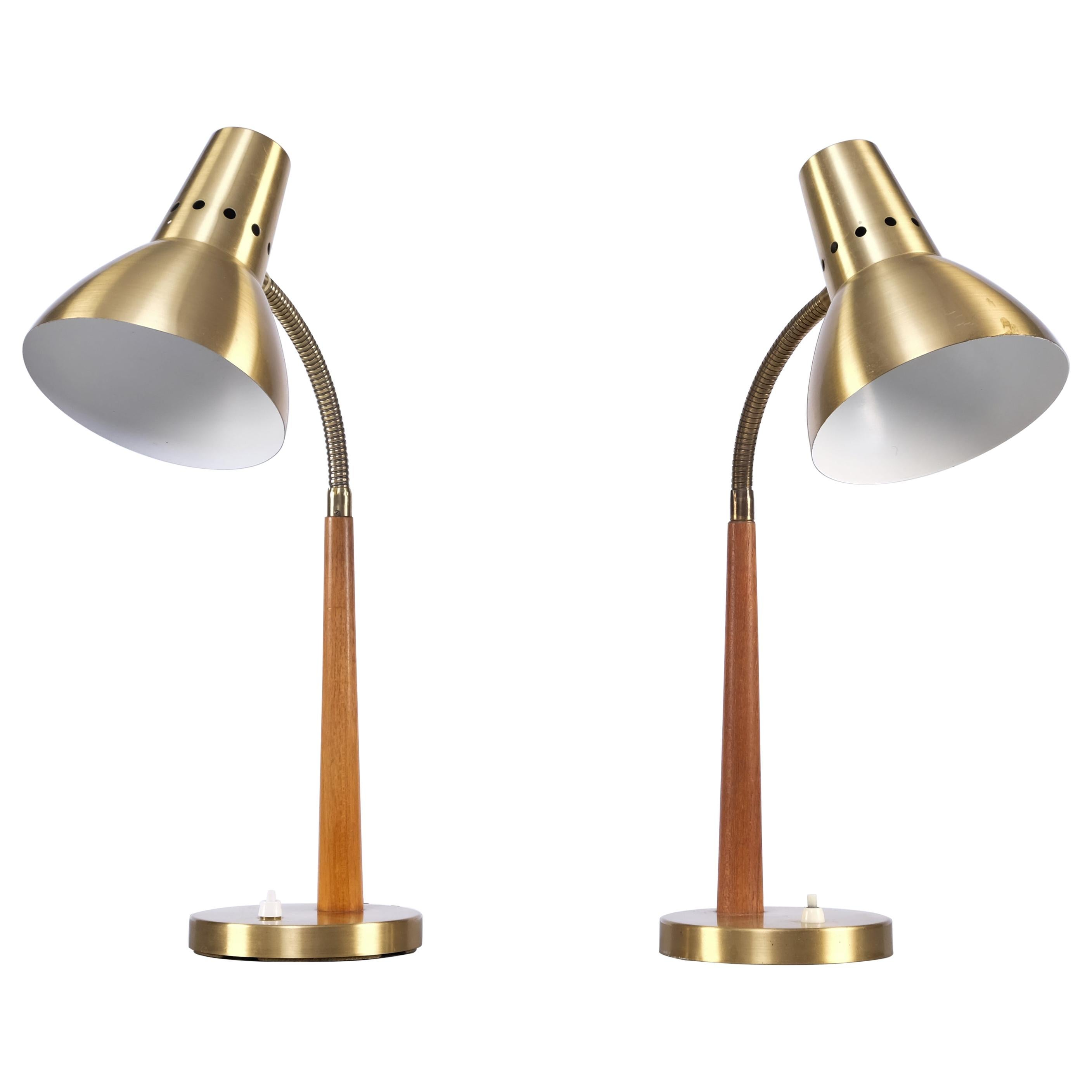 Set of 2 Swedish Table Lamps by Boréns, 1960s