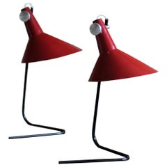 Set of 2 Table Lamps by Kovona, Midcentury Design, Czechoslovakia, 1960s