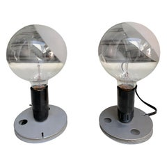Set of 2 Table Lamps Called Lampadina by Achille Castiglioni, 1972