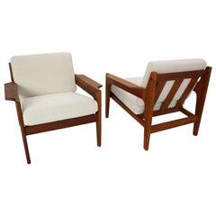 Set of 2 Teak Arne Wahl Iversen Lounge Chairs for Komfort, 1960s, Denmark