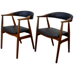 Set of 2 Teak Model 213 Armchairs by Farstrup