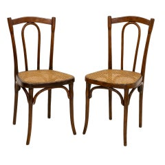 Set of 2 Thonet Chairs, Austria, 1920s