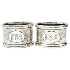 Set of 2 Towle Sterling Silver Napkin Rings 8770
