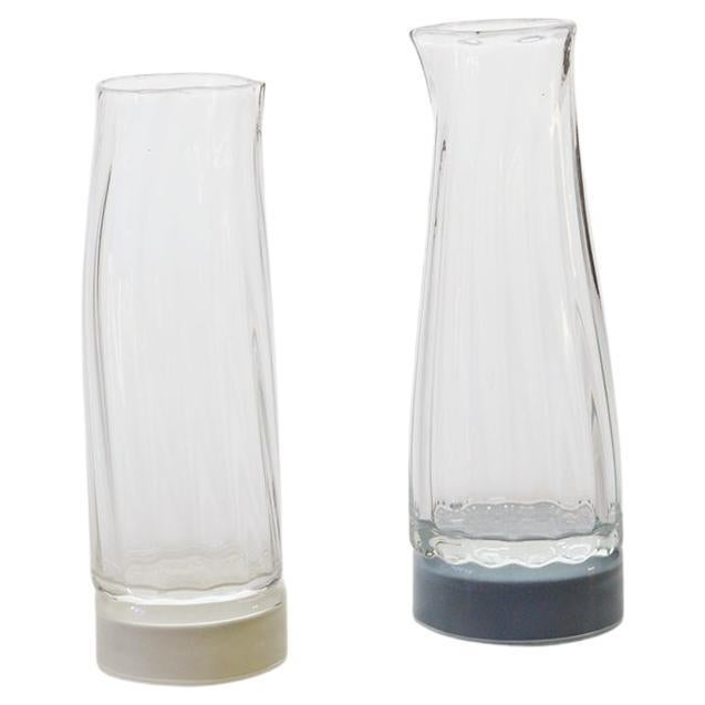 Set of 2 Unique Glass Carafe by Atelier George