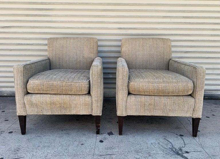 Mid-Century Modern Set of 2 Vintage Armchairs, circa 1960s