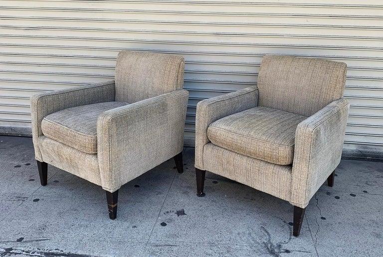American Set of 2 Vintage Armchairs, circa 1960s