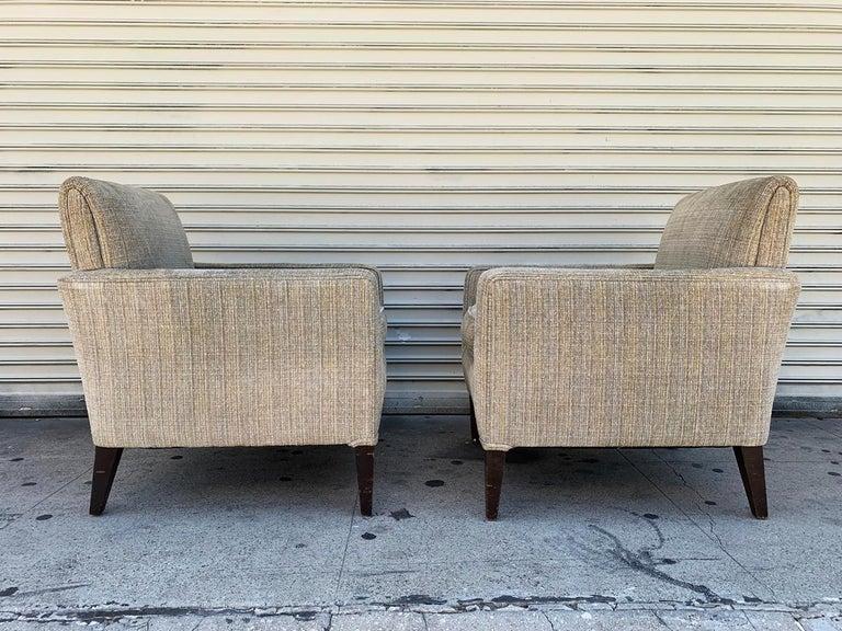 Set of 2 Vintage Armchairs, circa 1960s In Fair Condition In Los Angeles, CA
