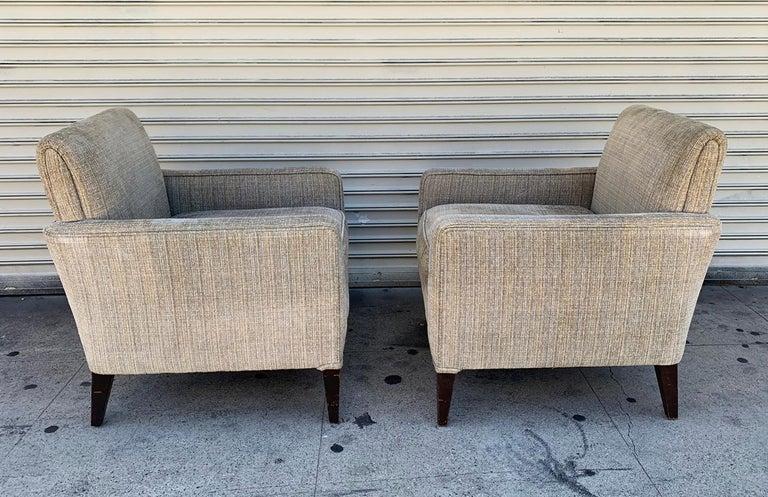 Mid-20th Century Set of 2 Vintage Armchairs, circa 1960s