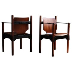 Set of 2 Vintage Danish Arm Dining Chairs