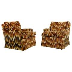 Set of 2 Vintage Missoni Style Zig Zag Chairs by Bielefelder Werkstätten
