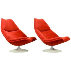 Set of 2 Vintage Model F510 Lounge Chairs by Geoffrey Harcourt for Artifort, 196