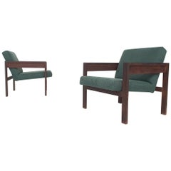 Set of 2 Wenge Lounge Chairs, Hein Stolle for 't Spectrum, Model SZ25/SZ80, 1959