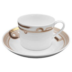Set of 2 Western Tea Cup with Saucer Art Déco Garden André Fu Living Tableware