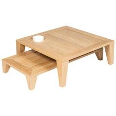 Set of 2 Yili Oak Tables