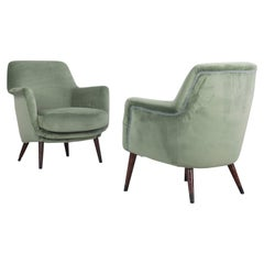 """Set of 2 Zoncada Armchairs, Model """"1101"""" and """"1102"""" by Cassina from Italy, 1958"""