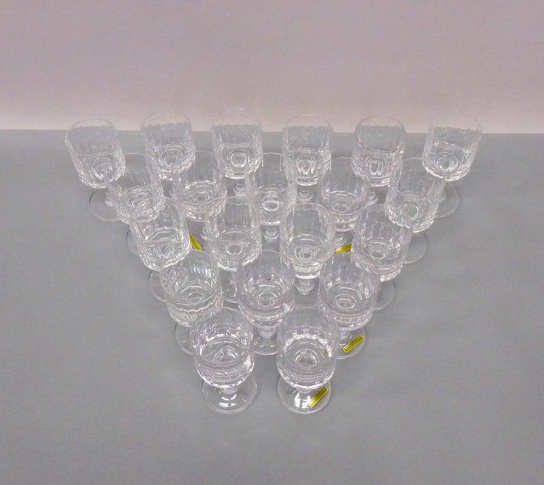 Large set totalling 20 Jens Quistgaard wine glasses. Acid etched Dansk JHQ France.