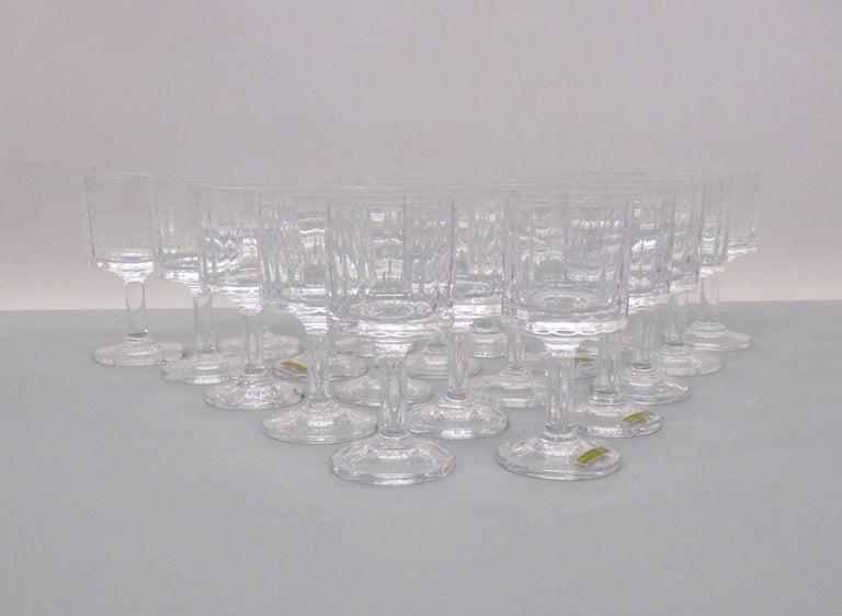 Mid-Century Modern Set of 20 Dansk JHQ Quistgaard Gustav Wine Glasses For Sale