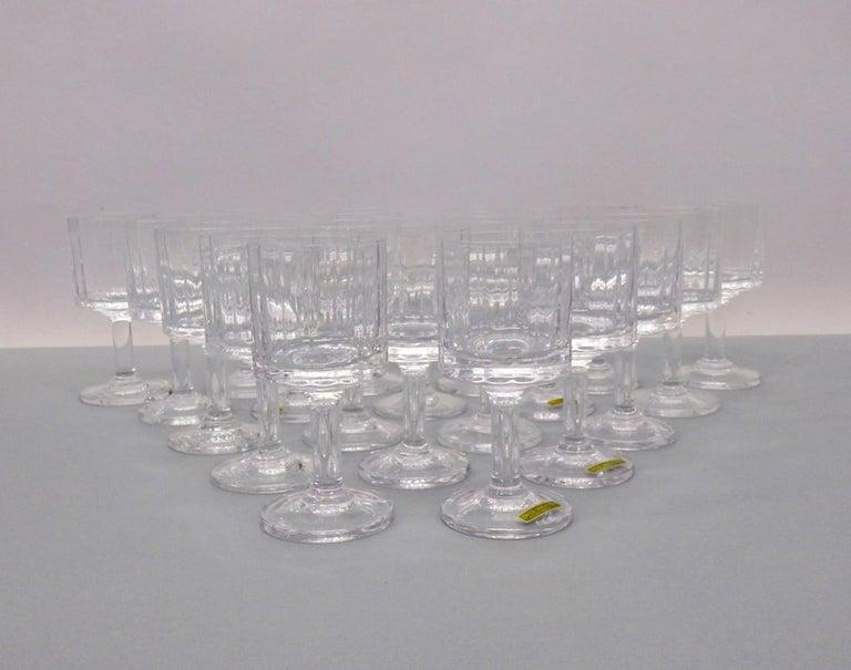 French Set of 20 Dansk JHQ Quistgaard Gustav Wine Glasses For Sale
