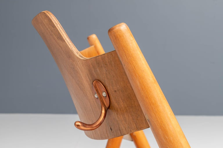 Set of 20 Fully Restored Egon Eiermann Folding Chairs in Beech and Plywood, 1952 For Sale 1