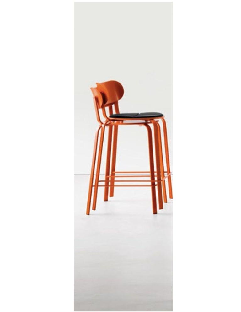 Superb Set Of Twenty Lapalma Orange Stools Squirreltailoven Fun Painted Chair Ideas Images Squirreltailovenorg
