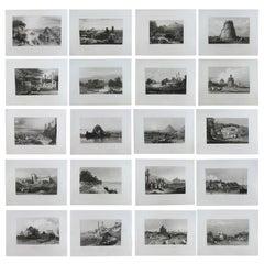 Set of 20 Original Antique Prints of India, circa 1830