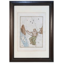Set of 20 Renaissance Hand-Colored Engravings of Astronomy Star Charts