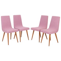 Set of 20th Century Pink Mélange Rajmund Halas Chairs, 1960s