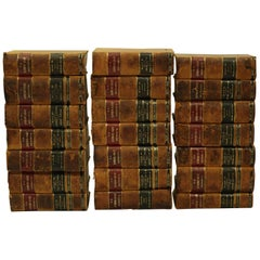 "Set of 21 Leather Bound ""U.S. Supreme Court Reports"" Law Books, circa 1901"