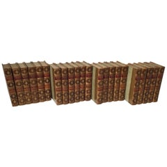 Set of 22 Leather Bound Books, The Waverly Novels by Sir Walter Scott
