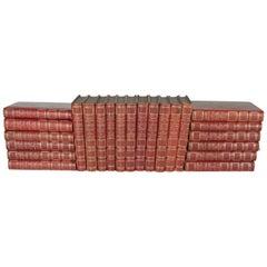 Set of 23 Victor Hugo Leather Bound Books, France, 1890s