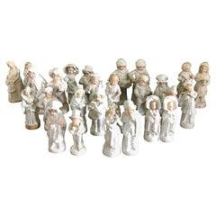 Set of 24 Antique Continental Porcelain Figurines