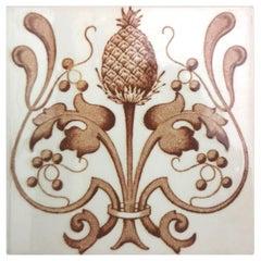 Set of 24 Art Nouveau Glazed Tiles, Belgium, 1920