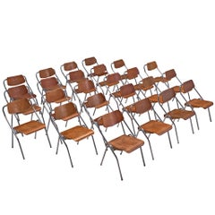 Set of 24 Folding Chairs with Tubular Frame