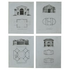 Set of 24 Original Architectural Prints after Andrew George Cook, circa 1820