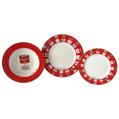 Set of 12 Place Settings Andy Warhol Campbells Soup Dinnerware