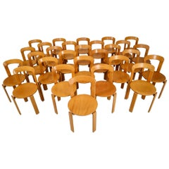 Set of 28 Dining Chairs by Bruno Rey for Kusch and Co., Switzerland, 1970s