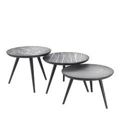 Set of Three Aluminium Side Tables