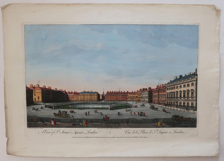 Georgian Set of 3 Antique Prints of London After Thomas Bowles, circa 1820 For Sale