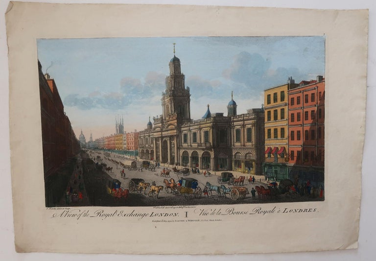 English Set of 3 Antique Prints of London After Thomas Bowles, circa 1820 For Sale